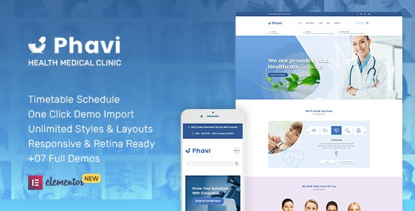 Phavi – Health Medical Clinic WordPress Theme nulled theme download