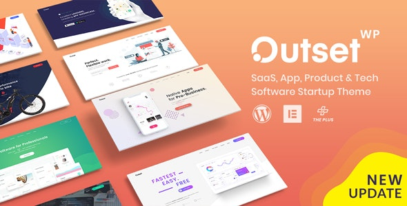 The Outset - MultiPurpose WordPress Theme for Saas & Startup - Software Technology