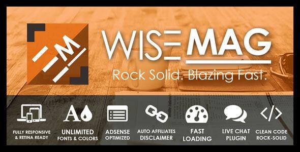Wise Mag   AdSense Optimized Magazine WordPress Theme - News / Editorial Blog / Magazine