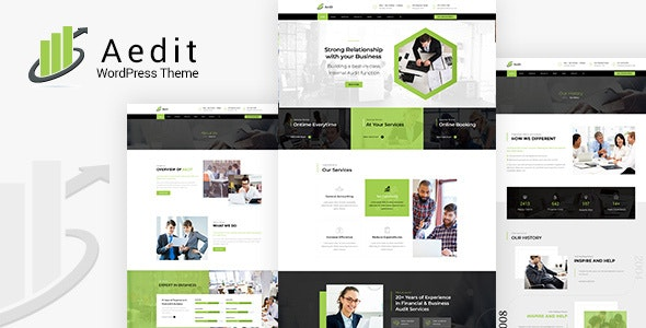 Aedit - Agency,Consultancy and Finance WordPress Theme - Business Corporate