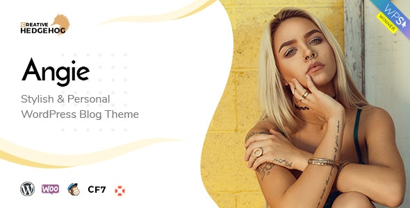 Angie - a Multi-Concept Blog Theme For WordPress - Personal Blog / Magazine