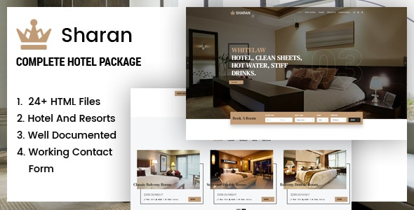 Sharan - Hotel & Resort Booking Template - Business Corporate