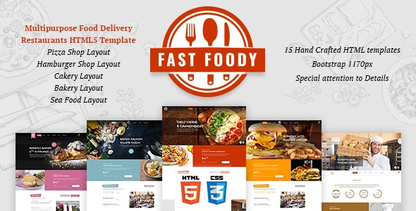 Fast Foody - Multipurpose Restaurants HTML5 Template - Food Retail