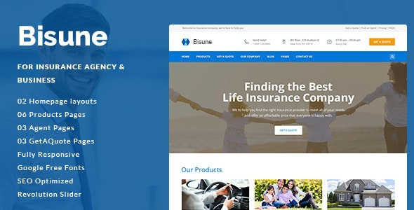 Bisune - Insurance Agency & Business HTML5 Template - Business Corporate