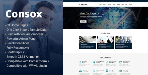 Consox - Professional and Consulting Services HTML5 Template - Business Corporate