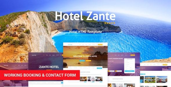 Zante - Hotel Template - Travel Retail