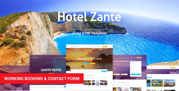 Zante - Hotel Template