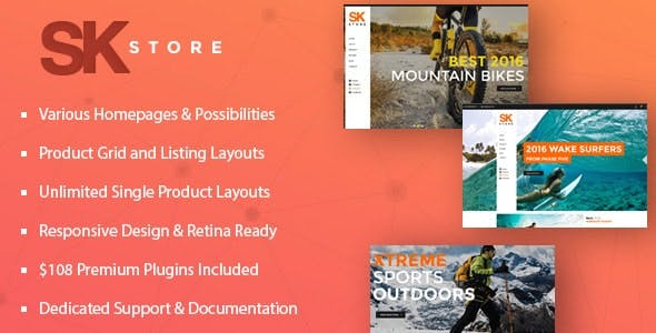 SK Store -  Responsive WP theme for Sport and Athletes