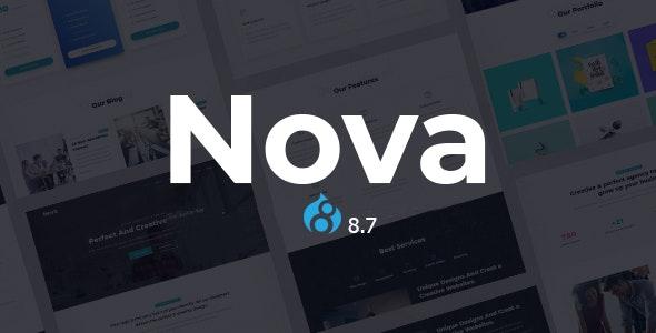 Nova - One Page Parallax Drupal 8.7 Theme - Creative Drupal
