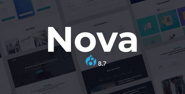 Nova - One Page Parallax Drupal 8.7 Theme nulled theme download