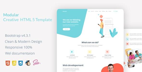 Modular Creative HTML Template - Creative Site Templates