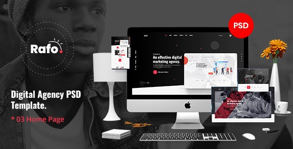 Rafo - Digital Agency PSD Template - Corporate Photoshop