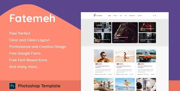 Fatemeh - Responsive Modern Minimal Blog - Personal Photoshop
