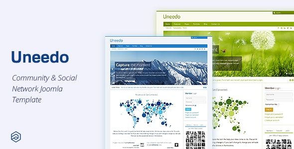 Uneedo - Responsive Social Network Community Joomla Template - Joomla CMS Themes