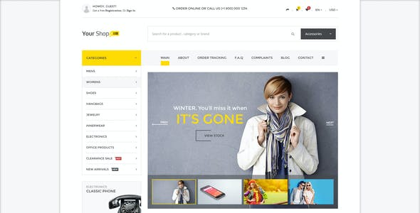 Your Shop - Multipurpose Ecommerce Store Template