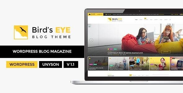 Birds Eye - Blog and News WordPress Theme - Blog / Magazine WordPress