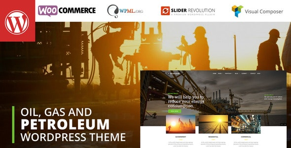 Petroleum - Oil, Gas and Chemical WordPress Theme - Business Corporate