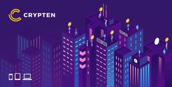 Crypten – Cryptocurrency & ICO PSD Template - Business Corporate