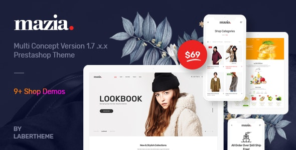 Themes Mazia Responsive Prestashop 1.7 - Labertheme - Fashion PrestaShop