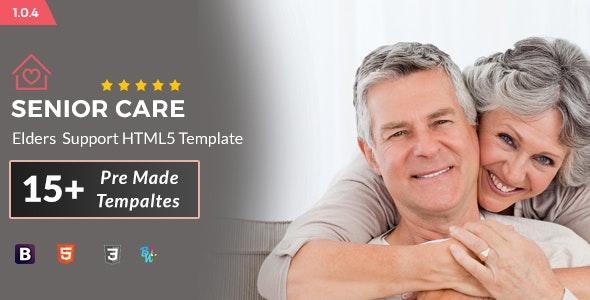 Senior Care - Elders Support HTML5 Template - Health & Beauty Retail