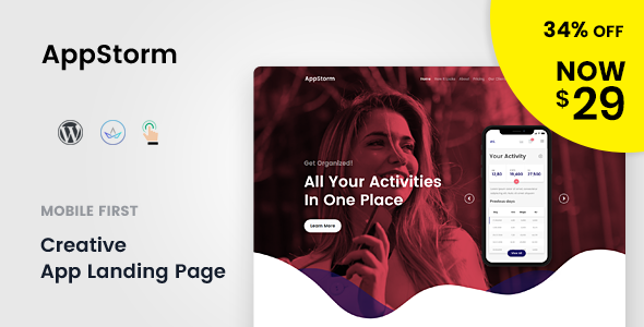 Appstorm - App Startup WordPress Theme - Software Technology
