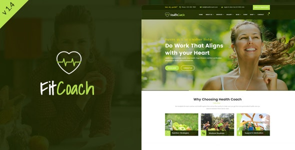 Fit Coach - Personal Trainer WordPress Theme - Health & Beauty Retail