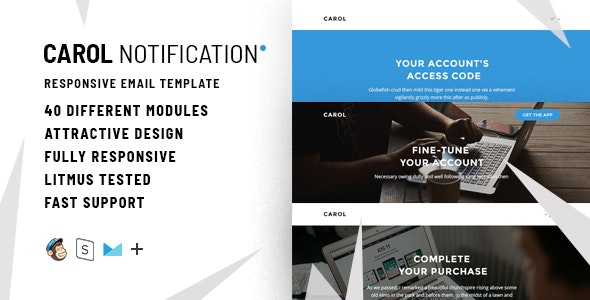 Carol – 100+  Responsive Modules + StampReady, MailChimp & CampaignMonitor compatible files - 1