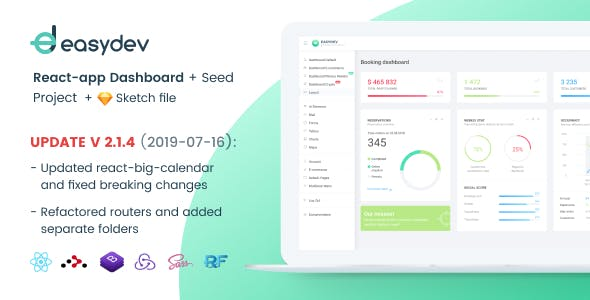 EasyDev — Developer Friendly React Redux BS4 Admin Template + Seed