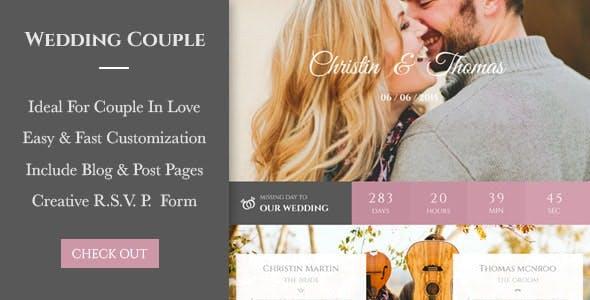 Wedding Couple - PSD