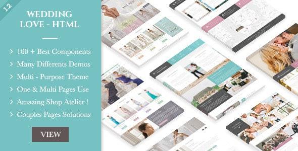 Wedding Love - HTML - Wedding Site Templates