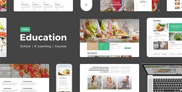 Education Food - PSD
