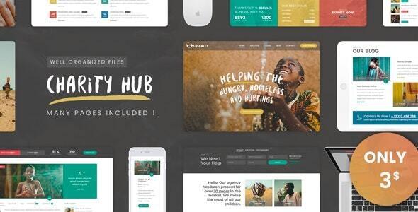 Charity Hub - PSD - Charity Nonprofit