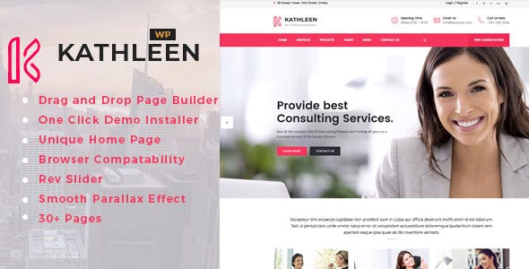 Kathleen - Business Consulting WordPress Theme nulled theme download
