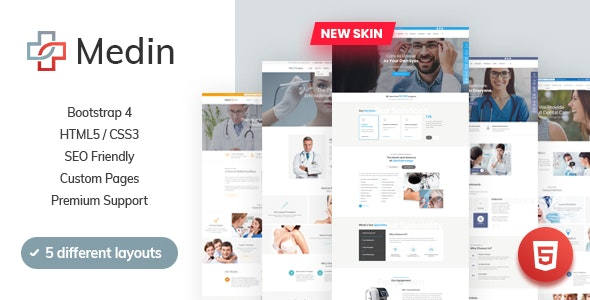 Medin - Medical Clinic HTML Template - Business Corporate