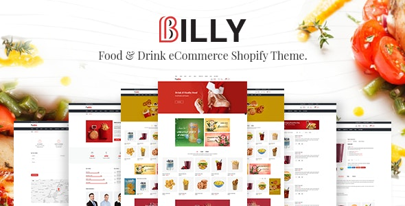 Billy Food & Drink Store Shopify Theme
