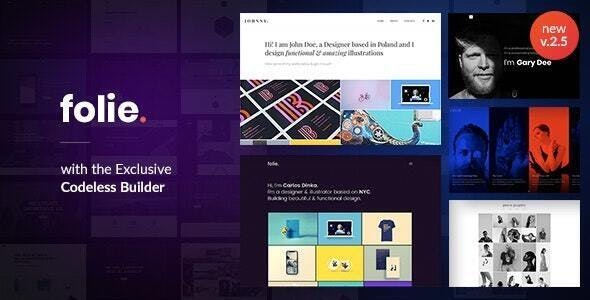 Folie | The WordPress Website Builder by code-less | ThemeForest