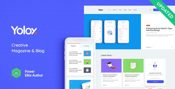 Yolox | Modern WordPress Blog Theme for Business & Startup - Blog / Magazine WordPress