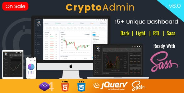 Crypto Dashboard Templates from ThemeForest