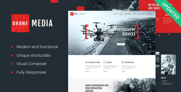 Drone Media | Aerial Photography & Videography WordPress Theme - Photography Creative
