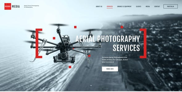 Aerial Photography Business Website Templates from ThemeForest