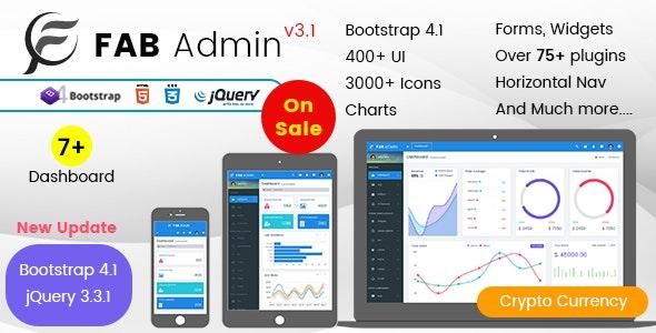 Fab - Responsive Admin Dashboard Template Web App by multipurposethemes