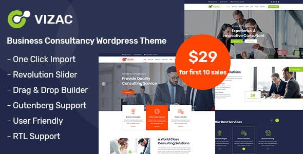 Vizac - Consulting Business WordPress Theme nulled theme download
