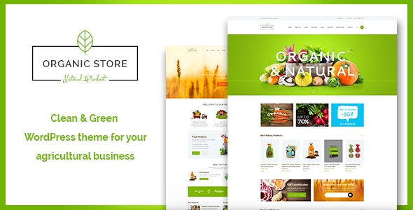 Organic Store | Food & Eco Products Shop WordPress Theme + RTL - WooCommerce eCommerce