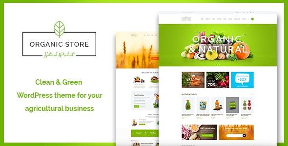 Organic Store | Food & Eco Products Shop WordPress Theme + RTL - WooCommerce eCommerce