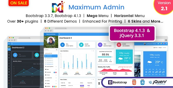 Maximum - Responsive Bootstrap 4 Admin Dashboard UI and WebApp Template - Admin Templates Site Templates