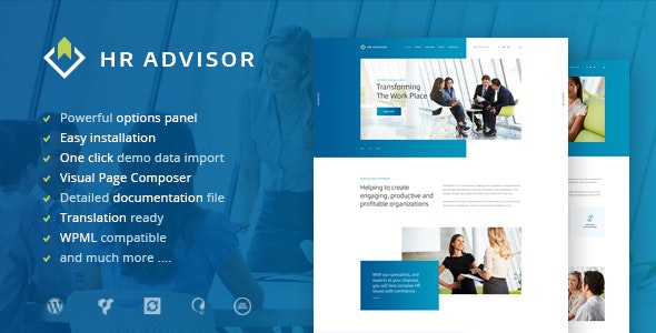 HR Advisor | Human Resources & Business Consulting WordPress Theme - Business Corporate