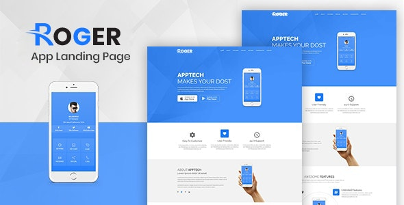 Multipurpose Landing Page Template - Roger - Technology Site Templates