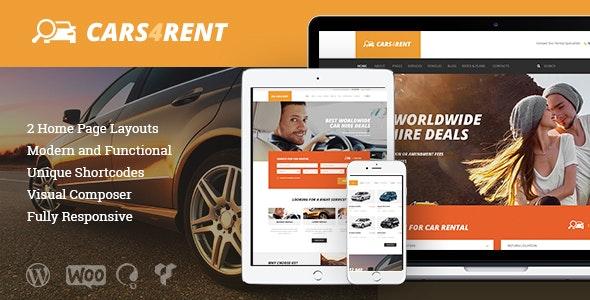 Cars4Rent | Car Rental & Taxi Service WordPress Theme - Travel Retail