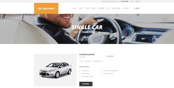 Cars4Rent   Auto Rental & Taxi Service WordPress Theme