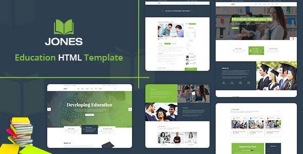 Jones - Education HTML Template - Nonprofit Site Templates